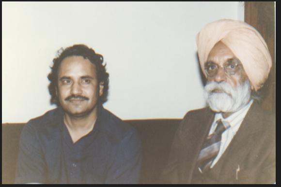 Ajmer Rode with Sant Singh Sekhon, Vancouver, 1977