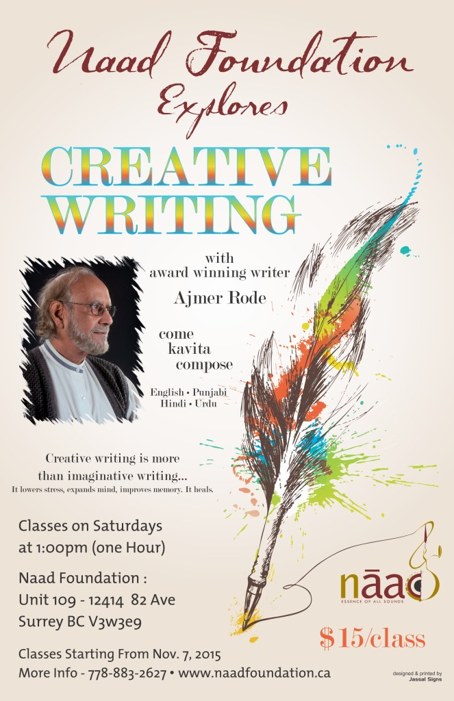 Creative Writing Poster